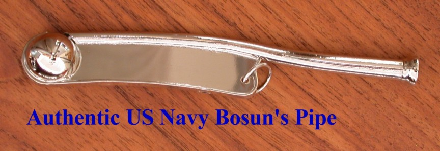 Authentic US Navy Boatswain's Call