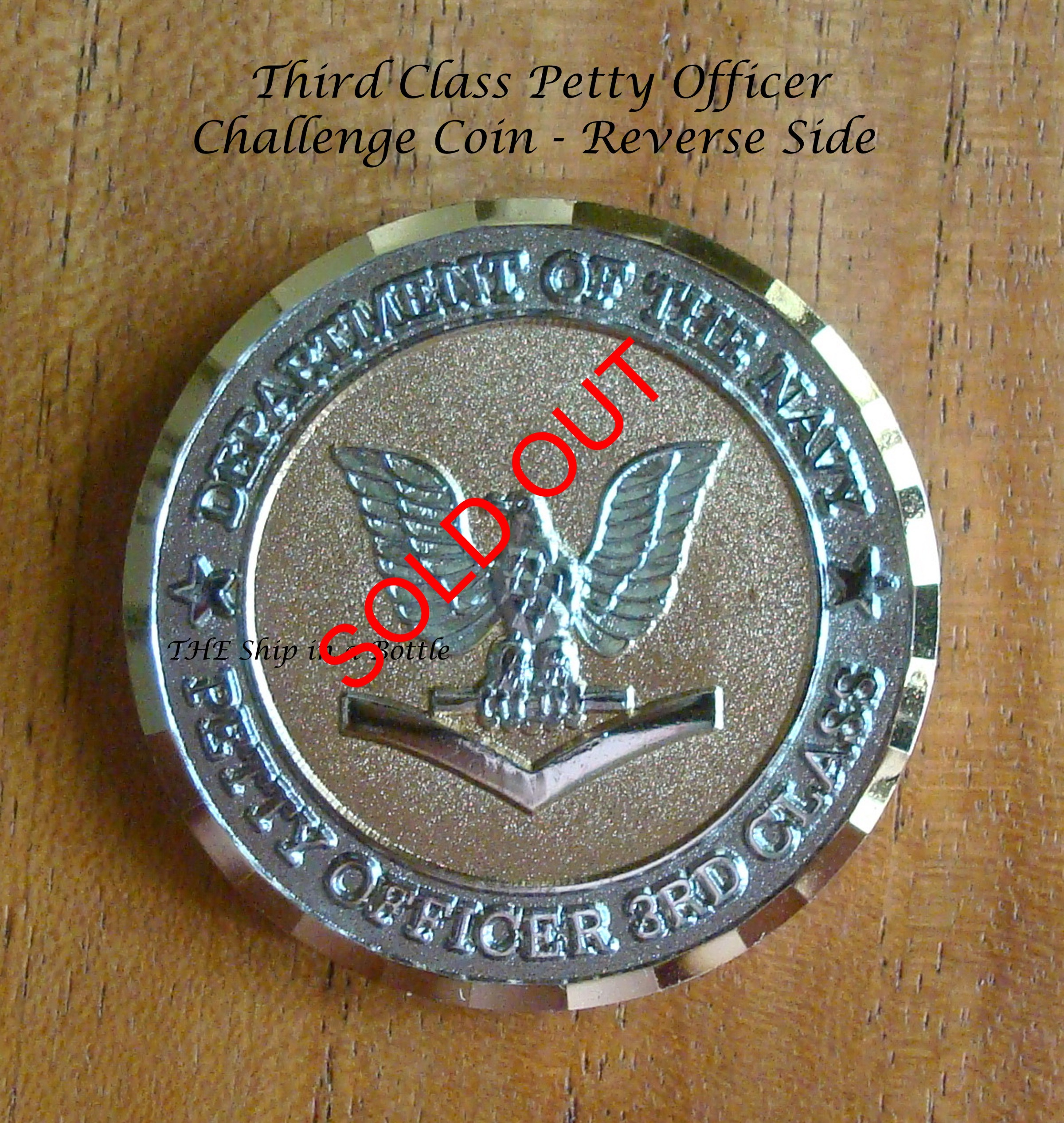 US Navy Challenge Coin - 3rd Class PO