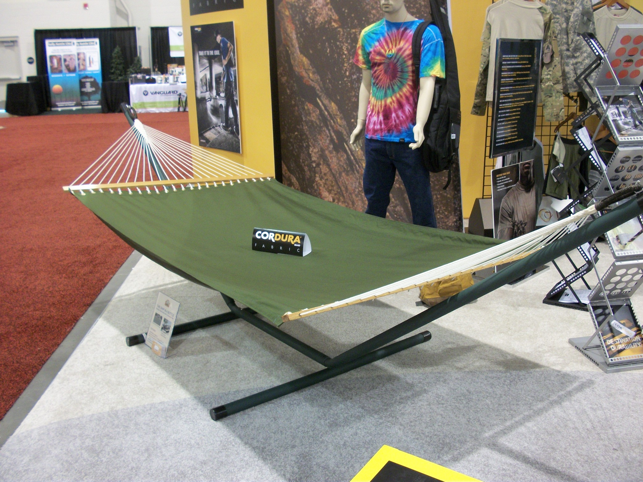Our Premier Hammock on Display at CORDURA(R) Booth at the Salt Lake City, UT Outdoor Retailers Summer Market 2010