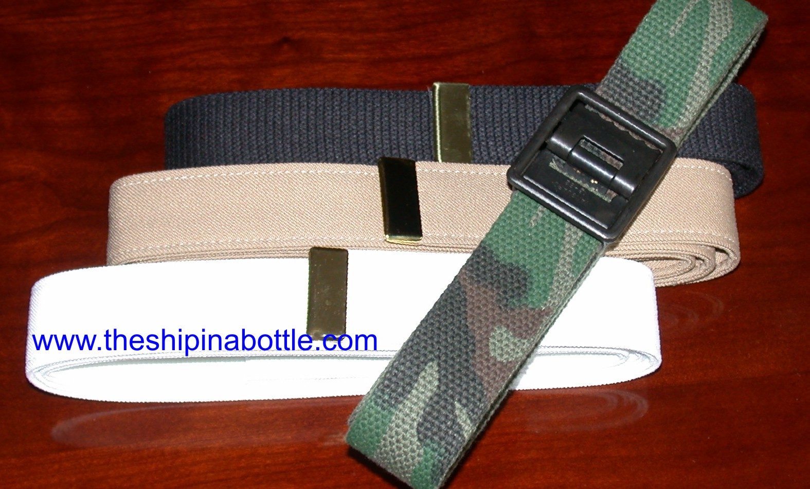 Authentic US Navy and SEABEE Belts - www.theshipinabottle.com