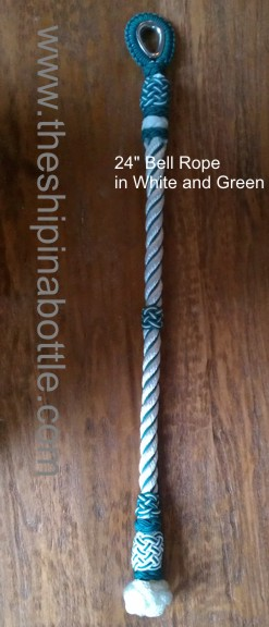 White and Green Bell Rope